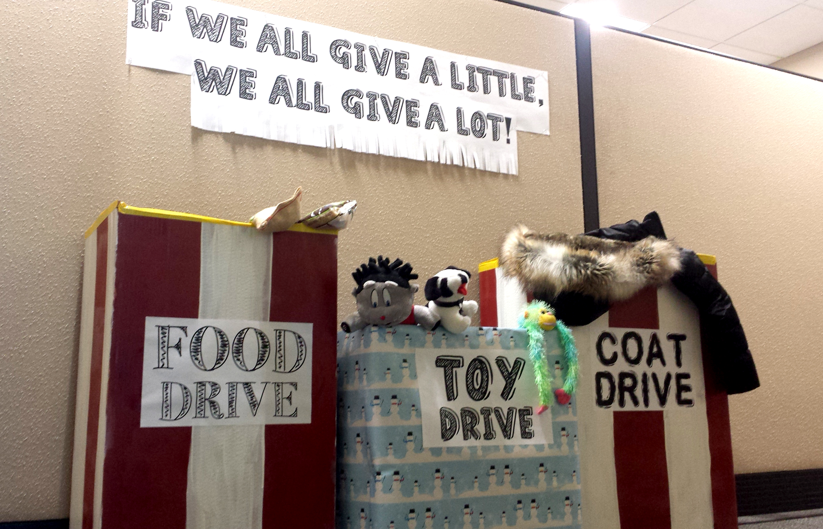 Coat, Food and Toy Drive at Home Loan Insurance.