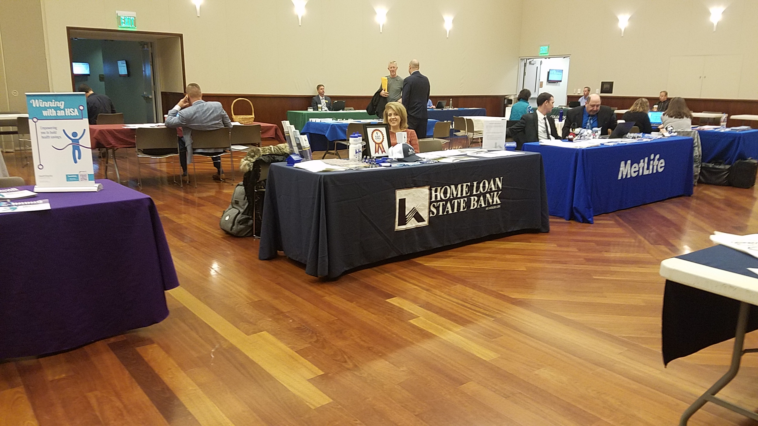 Amy at the Benefit Fair