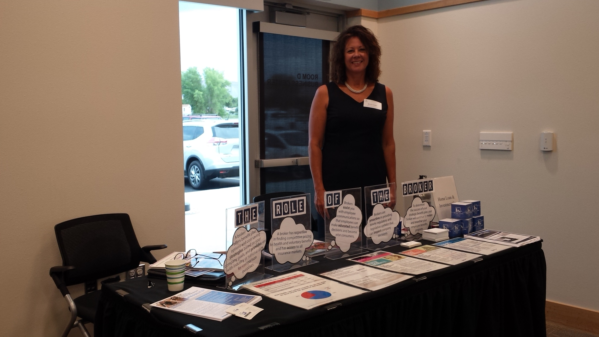 Beverly Troester at a Benefit Fair