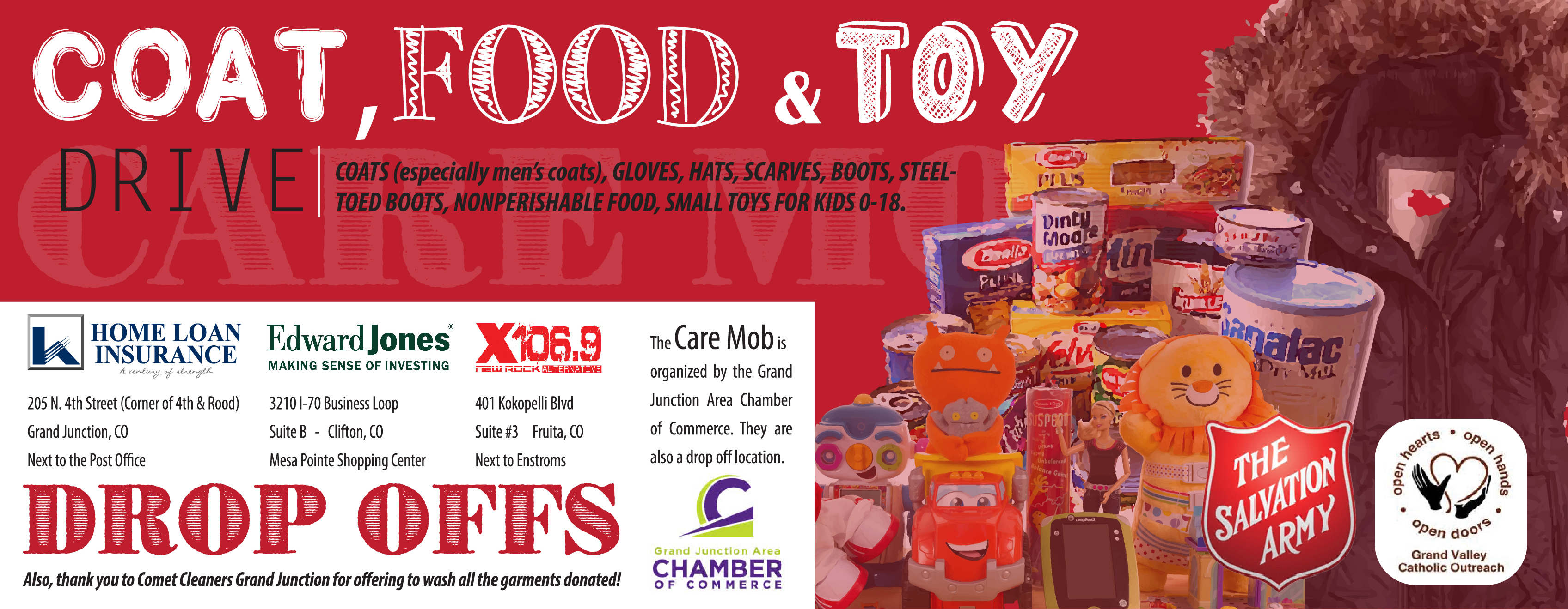 Coat, Food and Toy Drive in Grand Junction at Home Loan Insurance