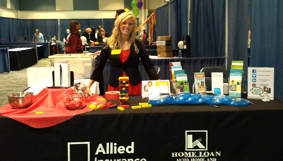Home Loan Insurance's booth at the Grand Junction Area Chamber Business Showcase!